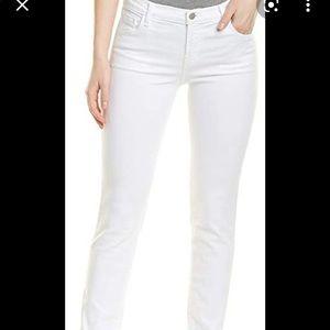 J Brand maude mid rise cigarette jeans white